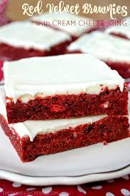 soft u0026 chewy red velvet brownies with cream cheese frosting the