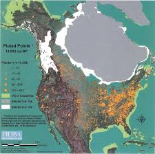 North America Biome Map by Fluted Paleo Indian Points In North America Sacred Geometry