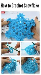 stitch snowflake ornament crochet tutorial