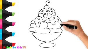 how to draw cream art for kids color and draw for kids youtube