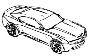 coloriage camaro les beaux dessins de transport à imprimer et