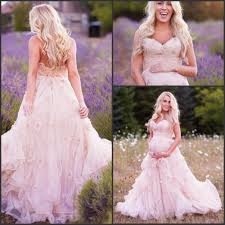 online get cheap country blush ruffled wedding dresses aliexpress