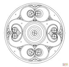 celtic ornament design from book of kells coloring page free