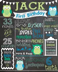 custom first birthday colored chalkboard poster invitation