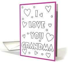 happy birthday grandma coloring cards printable holiday