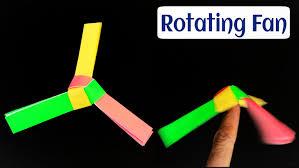 rotating paper fan spinner