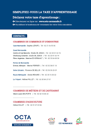 chambres des metiers 06 taxe d apprentissage 2018 actualités services en ligne