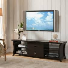 Wall Shelves With Drawers Modern 2 Drawer Tv Stand With Open Shelving Free Shipping Today