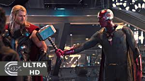 vision lifts thor s hammer creating vision avengers age of