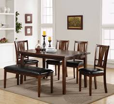 6 piece dining room set w bench classic furniture