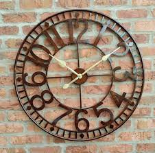 large outdoor clocks for walls