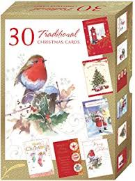 pack of 40 quality christmas cards assorted bumper box of