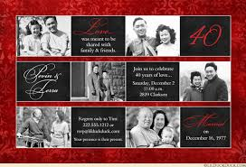 designs free 40th wedding anniversary invitations templates