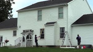 no ladder needed for a 2 story house pressure wash job and stay