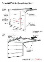 roller doors width u0026 garage design ideas door placement and common