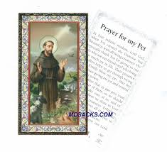 pet prayer francis prayer for my pet holy card 734
