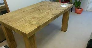 Chunky Rustic Dining Table Brand New Solid Wood Rustic Chunky Wooden Plank Dining Table Made