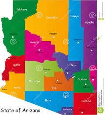Arizona State University Map by State Of Arizona Stock Image Image 9509101
