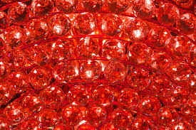 From A Chandelier Ruby Crystal Pattern From A Chandelier Stock Photo Image 30784260
