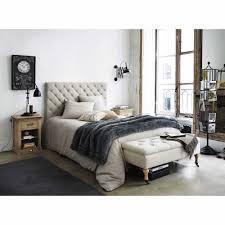 linge lit lin tête de lit capitonnée vintage en lin l 140 cm chesterfield
