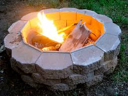 double decker cinderblock fire pit fire pits ideas backyard