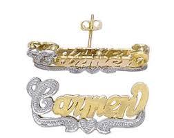 Gold Name Earrings Gold Name Earring Etsy