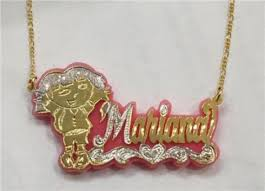 14k name necklace personalized 14k gold plate any name necklace any