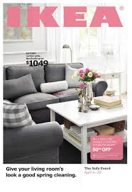 ikea sofa event flyer april 6 to 20