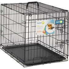 Dog Crate With Bathroom by Aspen Pet Wire Home Training Dog Kennel 30