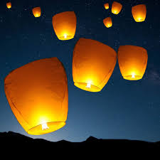 amazon com set of 10 white sky lanterns chinese flying wish