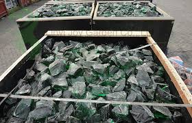 landscaping colored green large glass rocks for garden view glass
