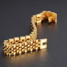 luxury bracelet gold chains images Luxury italian 18k gold jewelry 20cm men 39 s gold chain bracelet new jpg