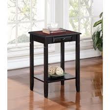 furinno turn n tube dark cherry simple end table 2 set 2