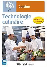 bac pro cuisine amazon in buy technologie culinaire 2e bac pro cuisine eleve book