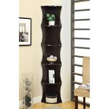 bookcases corner units corner bookcase furniture wood corner bookcase espresso finish 5