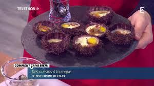 comment cuisiner des oursins cuisine recette des oursins aux oeufs de caille ccvb