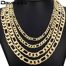 aliexpress com buy davieslee mens necklace hip hop gold filled