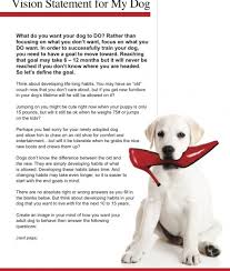 How To Get A Comfort Dog Vision Statement For My Dog Free Download