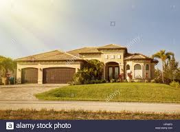 south florida single family house in sunny day typical southwest