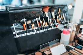makeup artist tools professional makeup artist cosmetics tools closeup stock photo by