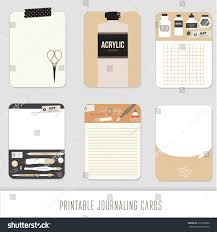 journaling cards notes stickers labels tags stock vector 310293086