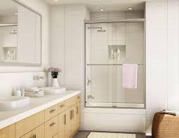 binswanger glass semi frameless sliding shower door framed