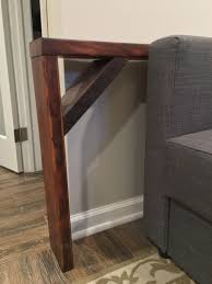 End Table With Charging Station by Easy Diy Behind The Couch Table Bye Bye Spilled Wine Table