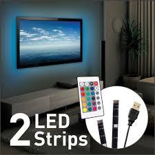 best buy led light strips barkan usb led multi color mood light for tv 2 strips led strip