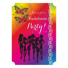 psychedelic butterfly bachelorette designs card zazzle com
