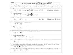 chemistry chapter 8 covalent bonding worksheet answers