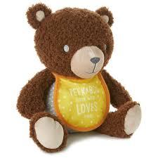 peekaboo teddy bear stuffed animal with photo holder classic