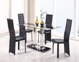 glamorous modern dining table sets rectangle shape clear black dining room glamorous modern table sets rectangle shape clear black glass material chrome metal legs