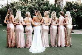 gold bridesmaid dress 5 sequin bridesmaid dresses for any wedding hey wedding