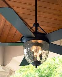 Outdoor Ceiling Fans With Light Alsace Caged Fan In Reclaimed Wood Finish Antique Hardware